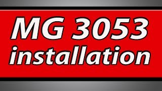 Canon Pixma MG3053 printer installation