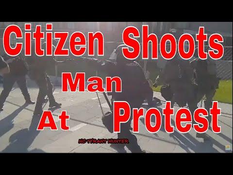 OMG citizen shoots man at protest in Denver