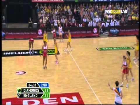 Netball: Diamonds v England Quad Series 2012 Game 1