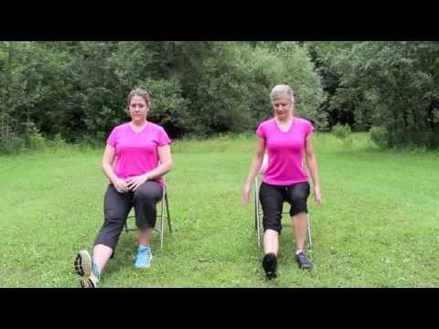 Gentle chair yoga routine