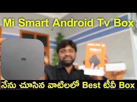 Mi Smart Tv Box,Mi Box S Unboxing With Initial Impressions || In Telugu ||