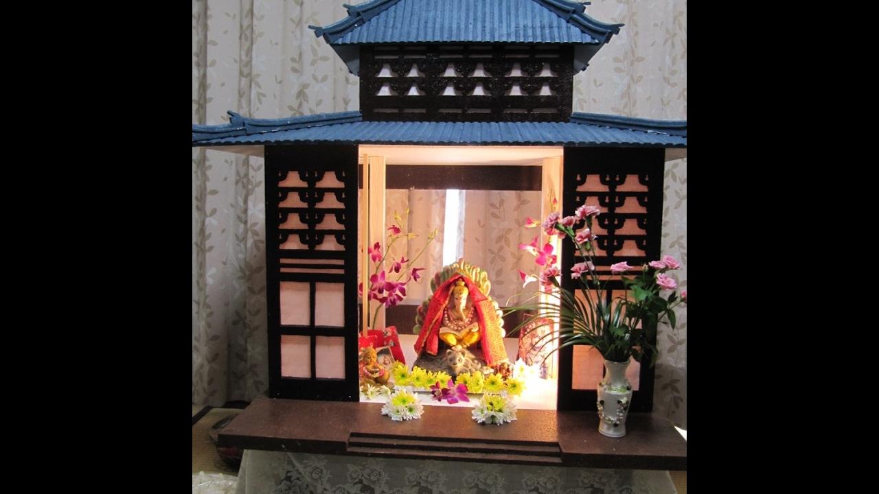 Ganpati Home Made Decoration 2010 Youtube