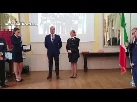 """IV Edizione premio """"Mario Fiore"""". Tra i premiati il Maresciallo dei Carabinieri Francesca Bocchino."""
