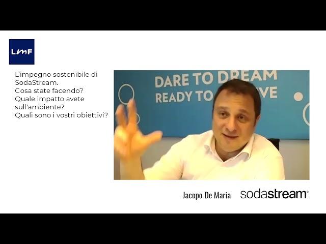 L'impegno sostenibile di SodaStream - Jacopo De Maria (SodaStream)