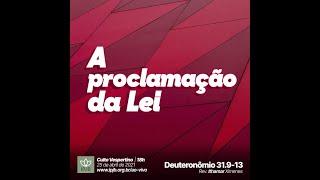 EBD | Deuteronômio 31.9-13 - A proclamação da lei - Rev. Ithamar Ximenes