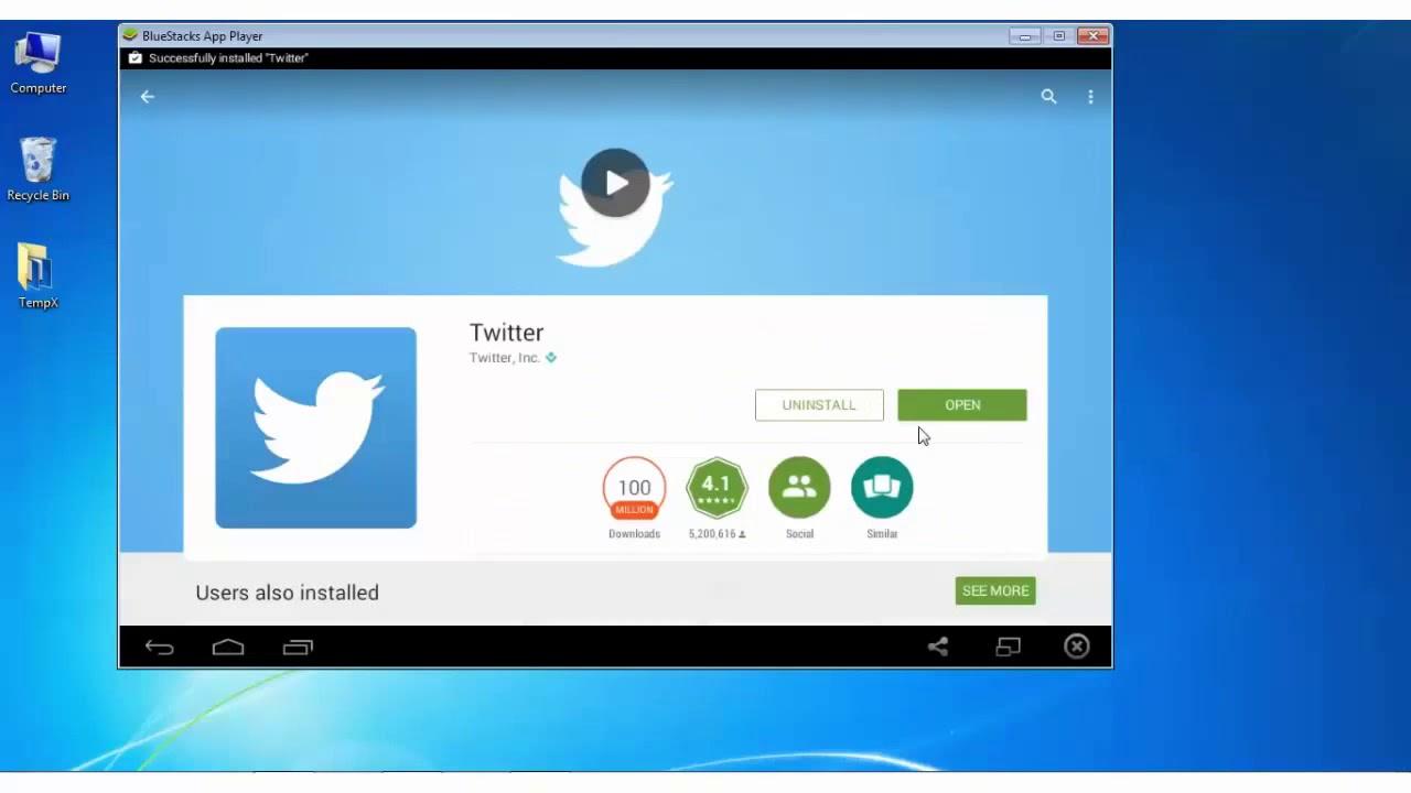Twitter app for windows 7 laptop.