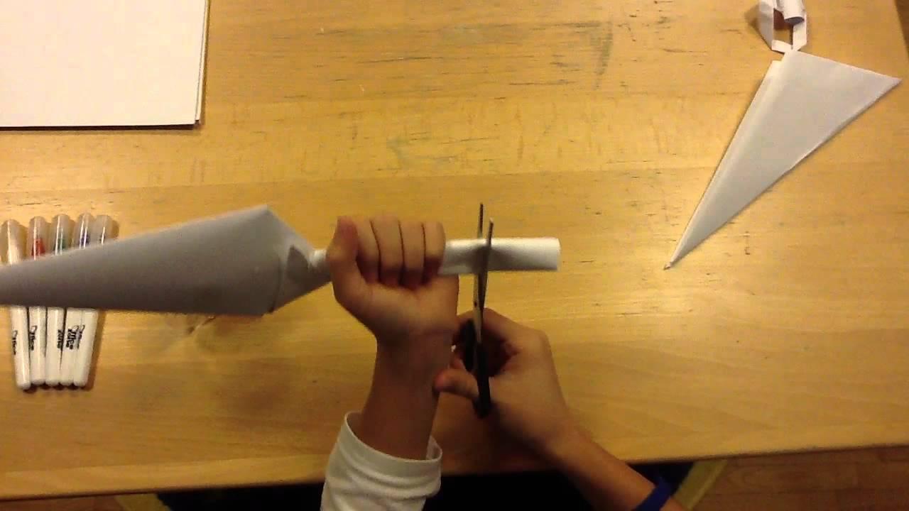 how to make a paper kunai knife. origami