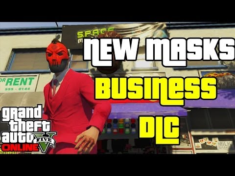 "GTA 5 Online DLC: New Masks for Heist DLC! (GTA 5 Business Update DLC) ""Gta heist online"""