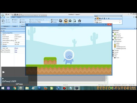 Tutorial Construct 2 - Membuat Game Platformer Part 1