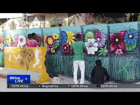Young people use street art to promote peace in Mogadishu