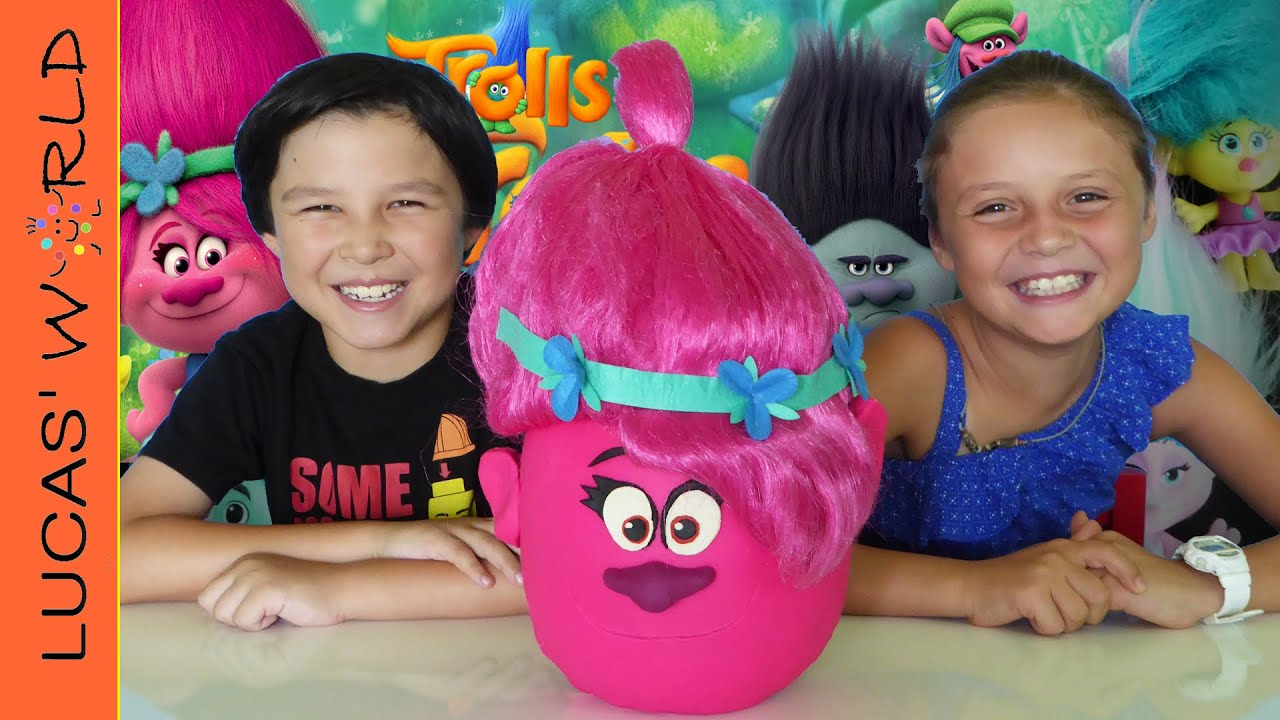 Giant Trolls Play Doh Surprise Egg Poppy Troll Toys Blind