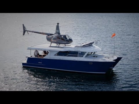 The Smallest Yacht With Helipad