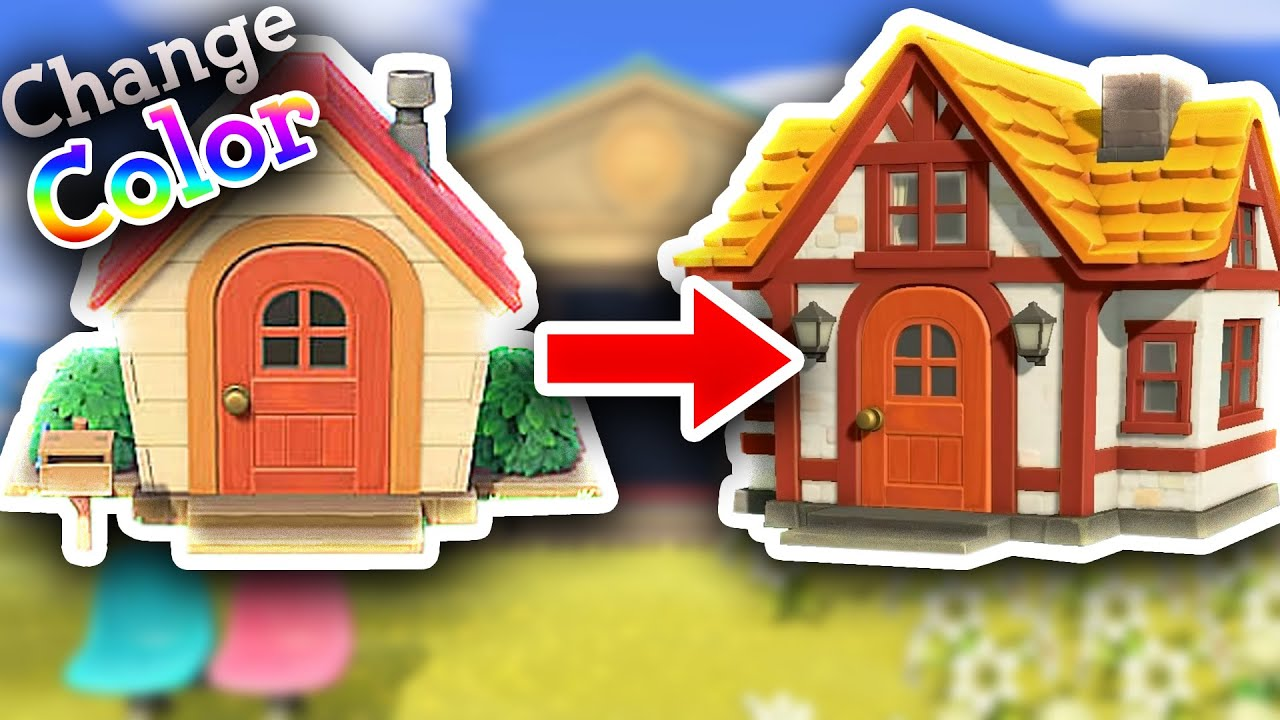 How To Customize The Outside Of Your House In Animal Crossing New Horizons Youtube