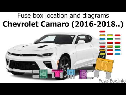 fuse box location and diagrams: chevrolet camaro (2016-2018  )