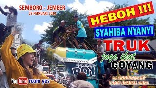 GREAT !!! SYAHIBA sings, TRUCKS also go GOYANG, 1st anniversary CMIC JEMBER AREA