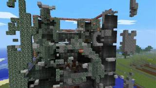 Minecraft: Destroying  Enemy castle with 1088 TNT! (17 stax)