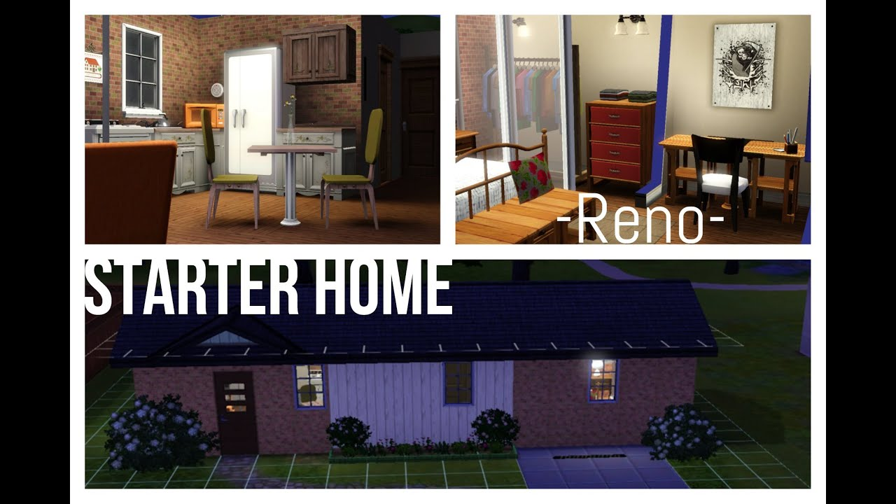 The sims 3 starter home renovation pre fabulous 1br 1bth for How to get your house renovated for free