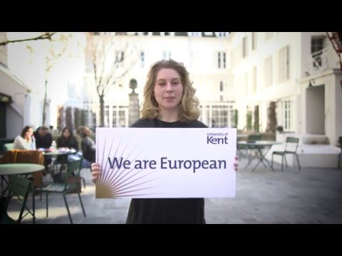 We are European | University of Kent students
