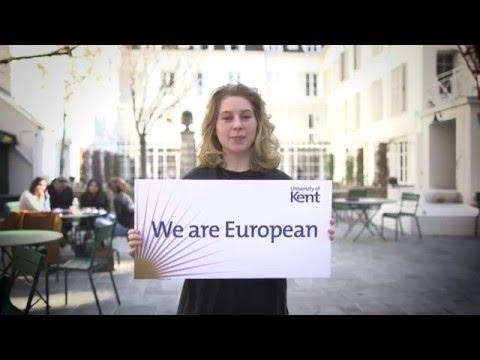 We are European | University of Kent students