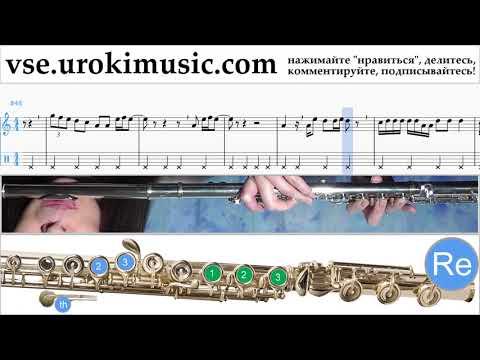 Как играть на флейте Dua Lipa - New Rules Табы часть 2 um-i821
