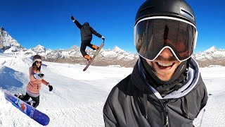 Amazing Place for Snowboarding Tricks & Carving