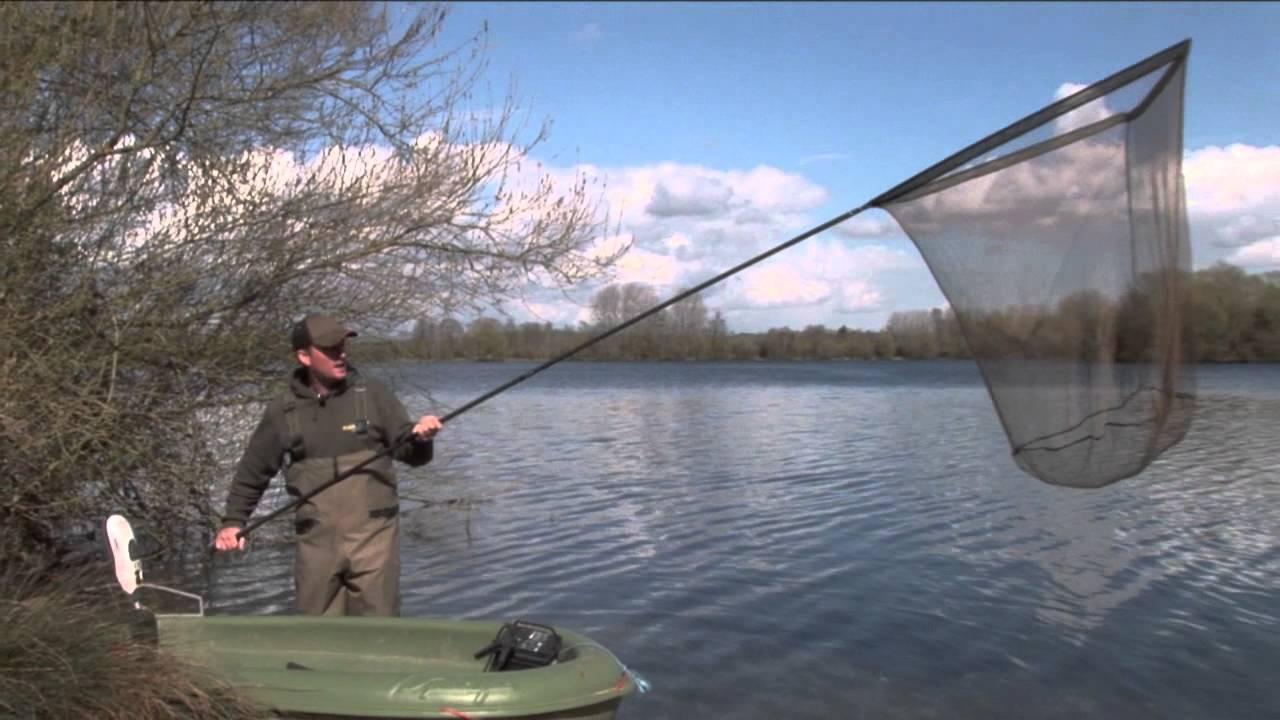 Carp fishing tv horizon xt landing net youtube for Fish landing nets