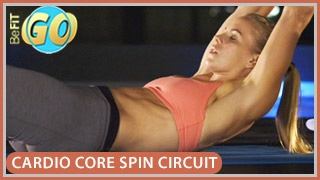 Cardio Core Spin Circuit Workout: BeFiT GO- 15 Mins