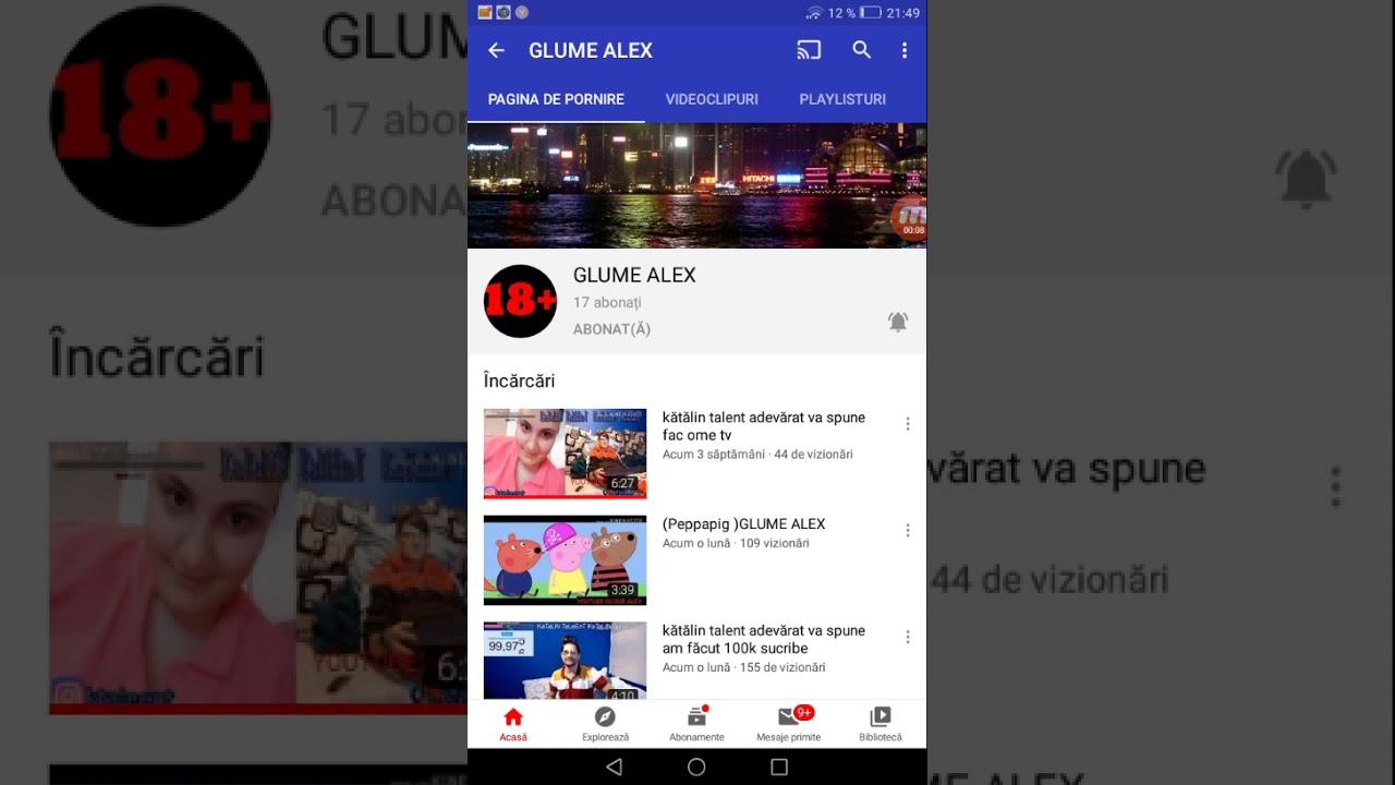 PROMOVARE LA GLUME ALEX - YouTube