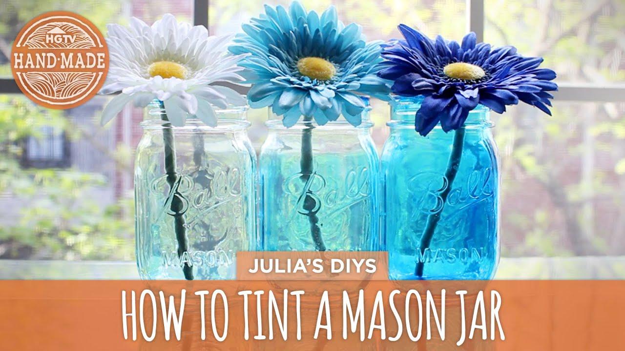 Uncategorized Tinted Jars how to tint mason jars hgtv handmade youtube