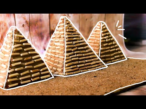 Easy monuments making with waste materials | school projects | pyramid monument| kids crafts |