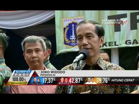 Jokowi Ikut Coblos Pilkada DKI Jakarta