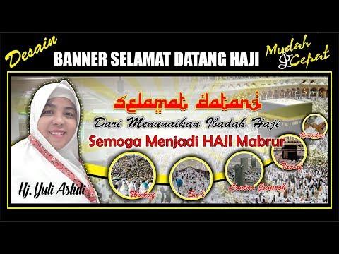 Desain Banner Selamat Datang Haji dengan CorelDRAW - Tutorial CorelDRAW