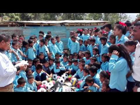 Kumbheshowr School children got sports material