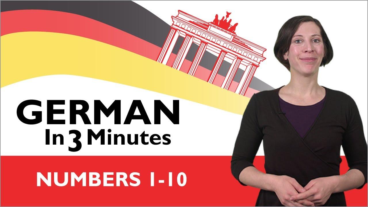 Learn German - German in Three Minutes - Numbers 1-10 - YouTube