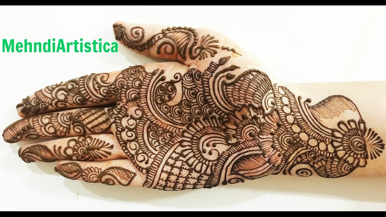 Simple Beautiful Traditional Arabic Henna Mehndi Designs
