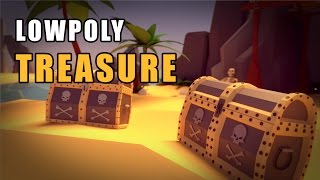 Blender Tutorial - The Low Poly Chest Treasure