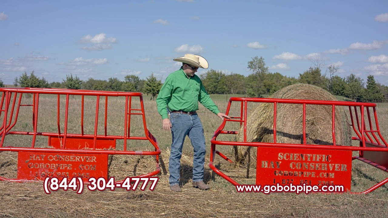 Hay Bale Feeders at GoBob Pipe and Steel - Square Hay Feeders - Hay