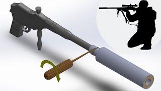 Silenciador caseiro para carabinas e airsoft de Fácil construção
