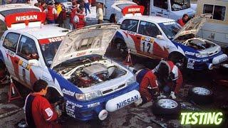 Nissan Pulsar GTI-R - 1000 Lakes Rally Test 1992  Tommi Mäkinen