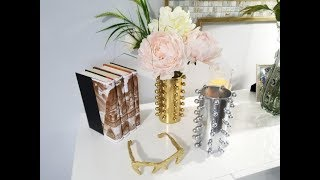 Dollar Tree Vase Using Floral Beads  Joint Compond Sunglasses  Decorated Book Spine