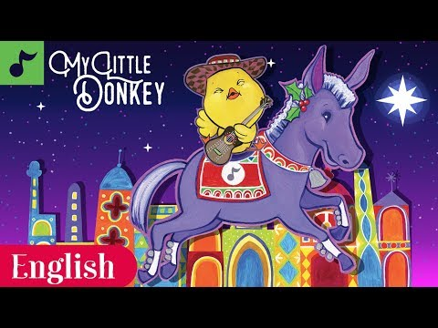 My Little Donkey | Christmas Carol | Sing Along | Canticos