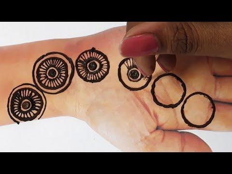 New Mehndi Trick  - Easy Mehndi Design from Circle - आसान हाथो की मेहँदी किसी भी त्यौहार के लिए