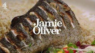 Запеченный лосось с приправой из зеленого чая от Джейми Оливера (Русская озвучка)