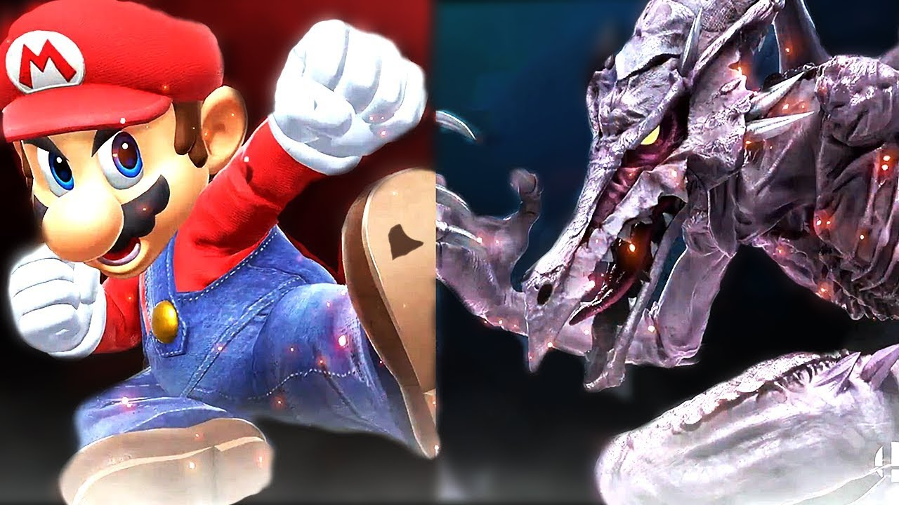 Mario Vs. Ridley & Samus in Super Smash Bros Ultimate Gameplay (Switch) + Ridley Final Smash HD