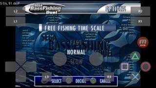 PlayStation2 PS2 Android Emulator Play! v0.30 Bass Fishing Duel - Sega Sports Game Play