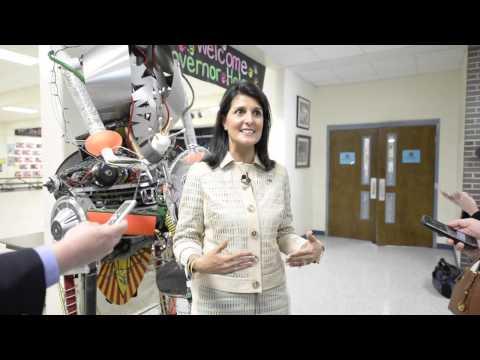 Gov. Haley Visits Aiken School
