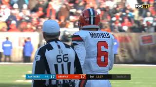 Every Baker Mayfield PASS and RUSH in 2018 Week 14 vs Carolina