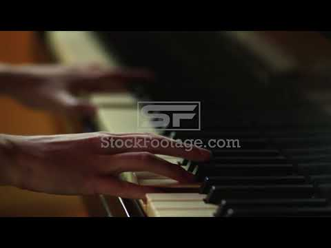 Close Up Woman'S Hands Playing Piano