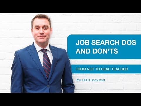Reed Education - Job search dos and don'ts