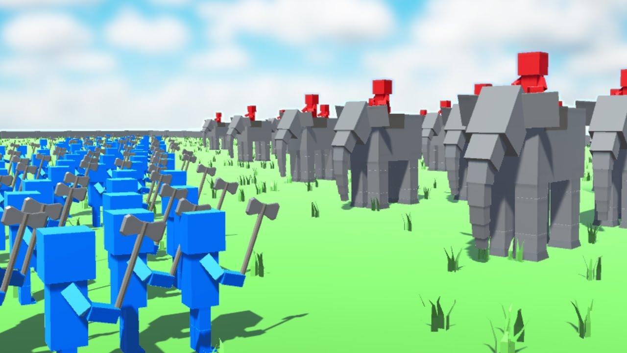 Ancient Warfare 2 giant elephant battle! (ancient warfare 2)